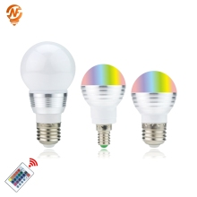 цена на LED RGB Bulb Lamp E27 E14 3W 5W AC110V 220V LED RGB Spot light 85-265V Magic RGB Lighting+IR Remote Control 16 Colors