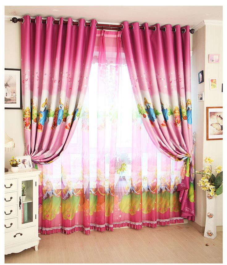 tienda online home decoracin por la ventana nios de la historieta de cortinas de color rosa nias cortina cortinas del dormitorio para