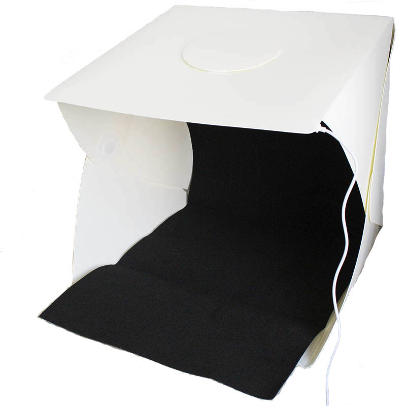 400 400 400mm 16inch Portable Foldable Photo Lightbox Photography Studio Accessories LED Light Box Softbox For