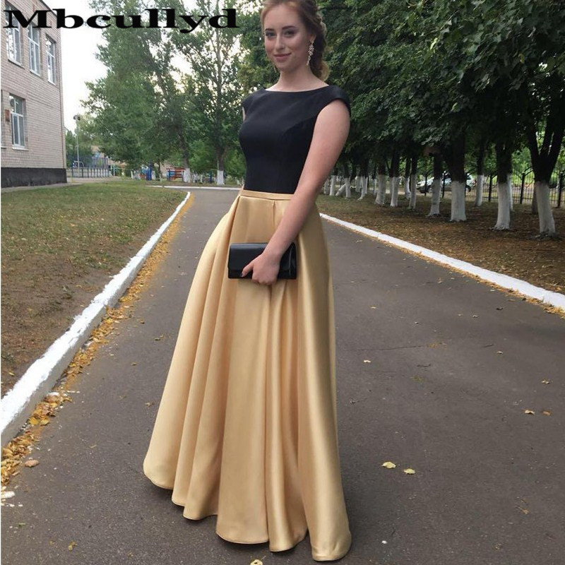 Mbcullyd Elegant Champange A-line African   Prom     Dress   2019 Long Plus Size Formal   Prom   Party Gowns With Pockets Robe de soiree