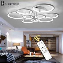 Luminaires Modern Led Chandelier Lampara deco techo Ceiling Mounted Chandelier Lighting White&Black Living room Bedroom Fixtures l50cm l40cm new modern led chandelier for living room bedroom ding room lampara de techo indoor lighting luminaires ac110v 220v