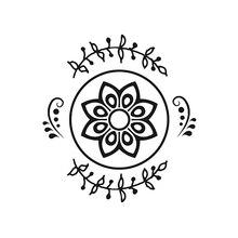 Naifumodo Flower Circles Dies Floral Branch Wreath Round Metal Cutting Stencils for DIY Scrapbooking Album Paper Embossing
