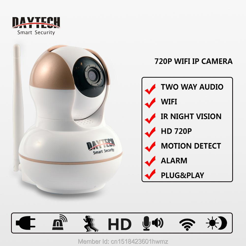 Daytech Wireless IP Camera Wifi Monitor Video Home Surveillance Security Camera CCTV Night Vision IR Infrared Two Way Audio 103A 1 4 cmos 720p 1mp security cctv camera two way audio ir cut video surveillance night vision wifi ip camera support 64g tf card