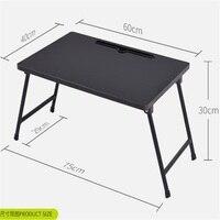 60 40CM Folding Laptop Table Lazy Notebook Table Portable Bedside Table Modern Learning Desk