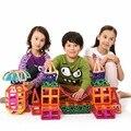 Mini 116 pcs modelos building blocks brinquedos magnéticos do desenhador das crianças aprendendo brinquedos educativos enlighten bricks presente magnético
