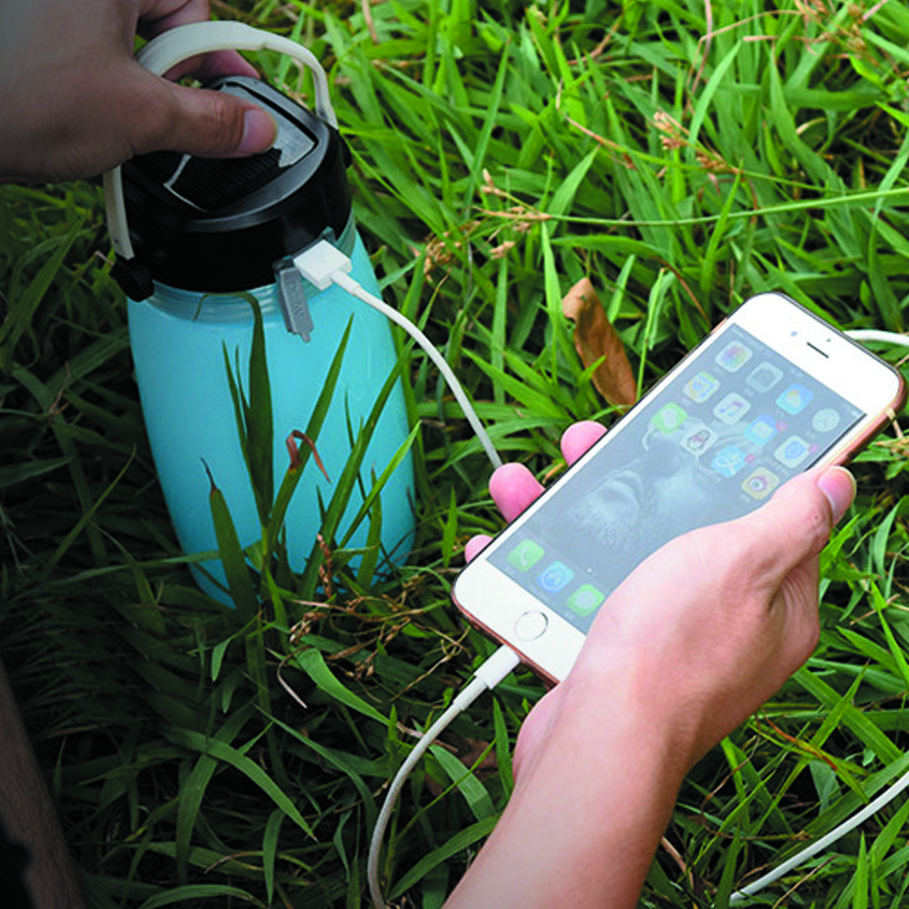 Soft Silica Gel Portable Outdoor Fashion Creative Sports Kettle Solar Charging Camping L ...