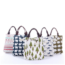 IUX Cute Animal Printed Female Shopping Tote Bag Big Canvas Handbag Women's One Shoulder Crossbody Bag Portable can tailor-made