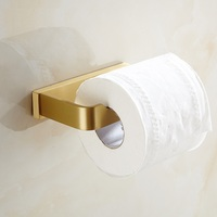 Solid Brass Brushed Gold Toilet Paper Holder Wall Mount Tissue Roll Hanger Brush Gold Suporte De Papel Bathroom Accessories