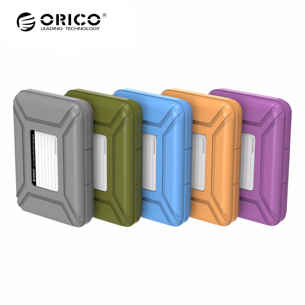 ORICO 3.5 Inch Hard Drive Bags & Cases 3.5 Inch HDD Protective Box / Storage Case bsc35 05 3 5 inch shockproof carrying hard drive protective storage case box with lock 5 bit aluminum hard disk protection box