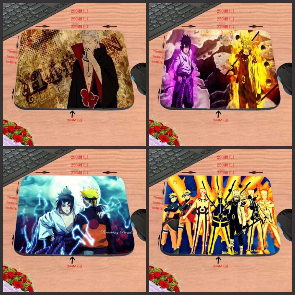 Custom Top Sale Luxury Printing Naruto Game Design Gaming Rubber Durable PC Anti-slip Mouse Mat for Optical/Trackball Mouse