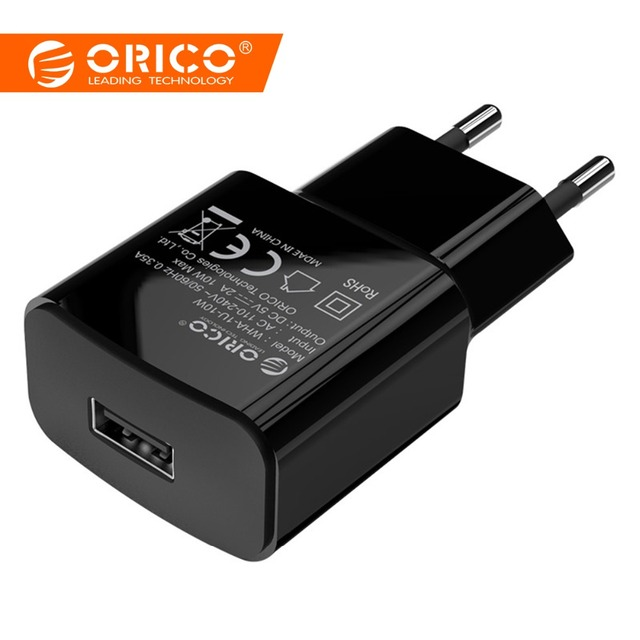 ORICO Universal USB Charger 5V1A 5V2A Travel Wall Charger Adapter for iPhone7 Samsung S8 Smart Mobile Phone Charger EU Plug