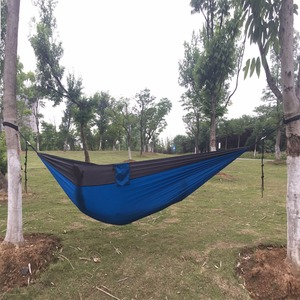 Image 2 - 118inches x 79inches Parachute Hammock  Camping Survival Double Person Parachute outdoor furniture with Tree Friendly belt