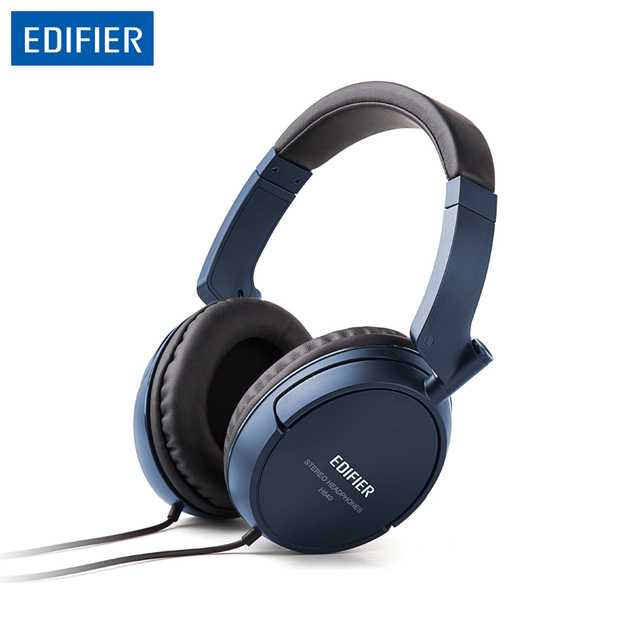 Edifier H840 Powerful Sound Headphones Headset Soft Foam and Leather Ear Caps HIFI Headphone 3.5mm AUX for Phones Tablet PC