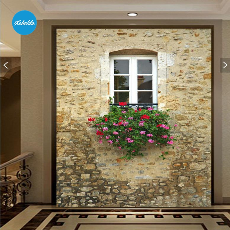 Xchelda Custom 3d Wallpaper Design Mediterranean Windows Photo