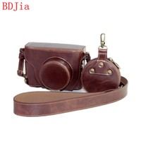 New Luxury Leather Camera Case For Fujifilm X100F Camera PU Leather Camera Bag Cover With Battery Opening + strap
