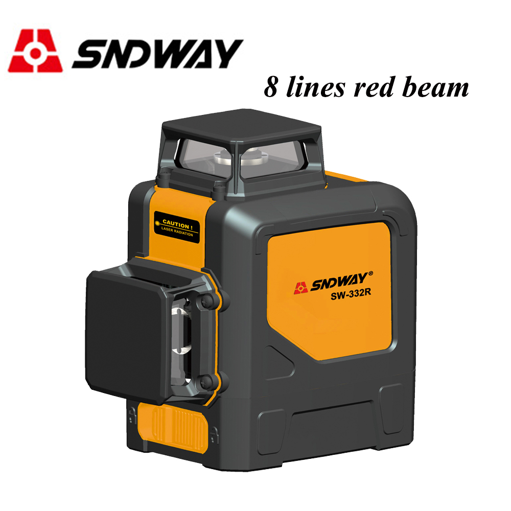 SNDWAY Red/Green Beam 8 Lines Laser Level Rotary Self-leveling Vertical Horizontal Cross Line Laser Tile Tool Outdoor/Indoor