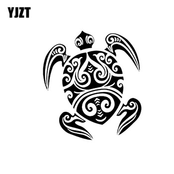 YJZT 17CM*14.5CM Neither Fast Nor Slow Simple And Honest Amphibians Vinyl Decal Car Sticker Black/Silver C18-0130 image