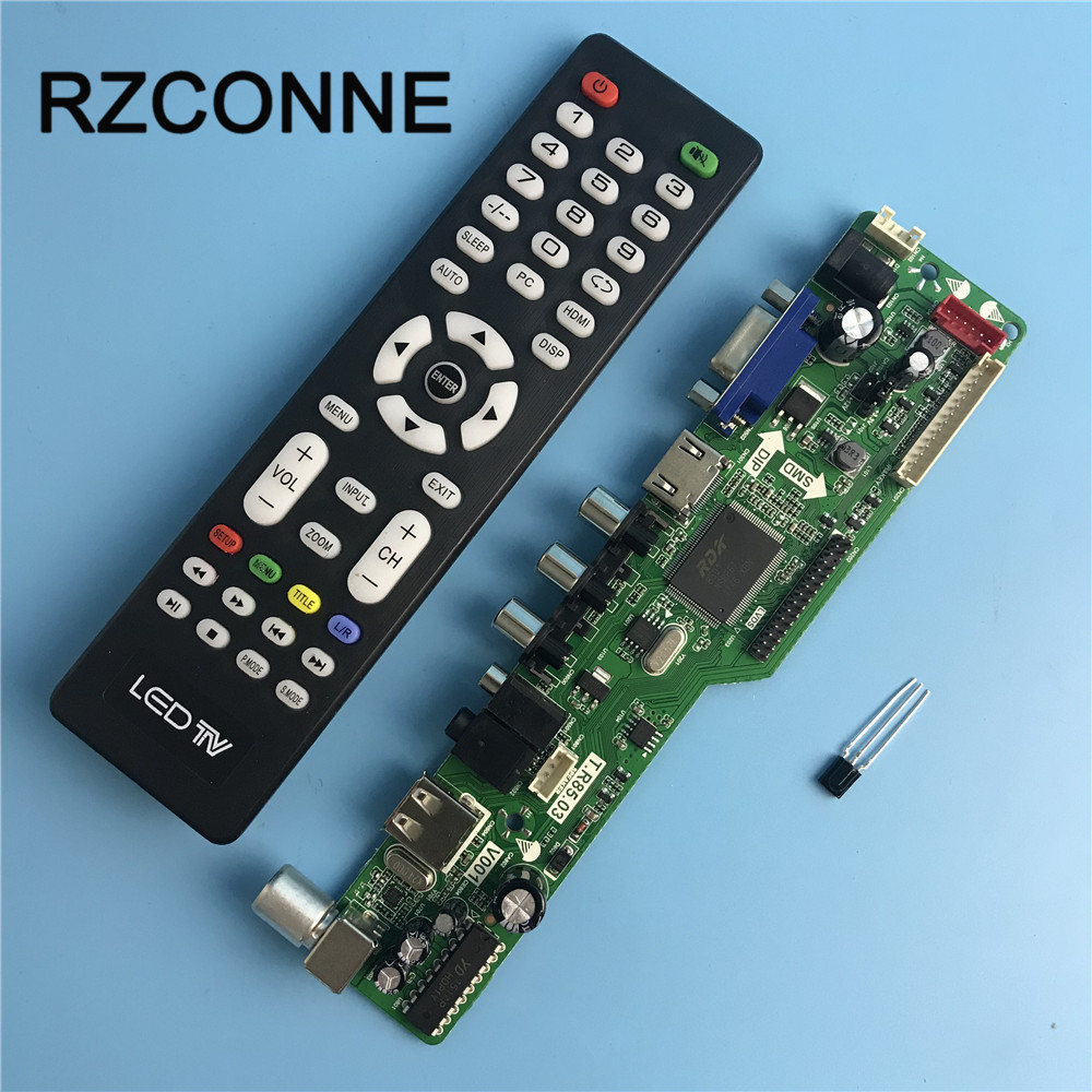 LA.MV29.P Universal LCD Controller Board Resolution TV Motherboard VGA/HDMI/AV/TV/USB HDMI Interface Driver Board tv driver board hx v29 39 l