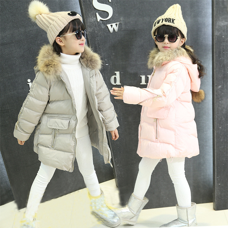 2017 new Girls Spring Autumn Winter Coat Cotton Padded Hooded Kids Winter jacket for girls clothes Children clothing Parkas girl teenager girl dot trench coat outwear kids hooded clothes spring and autumn jacket children s clothing 15380421