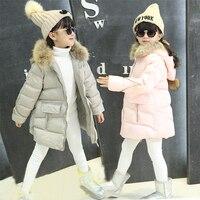 Explosive Child Models Girls Korean Hand Thickened Plug Of Cotton Fashion Fur Collar Hooded Long