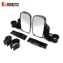 KEMiMOTO for Polaris RZR 800 900 1000 For Can Am 2″/1.75″ Rear View mirror Break-Away Side Mirrors Shock-proof Rubber Pad Rhinos