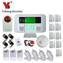 YobangSecurity English Spanish Russian Voice four Wire 100 Wi-fi Protection Zones GSM PSTN House Alarm System Door Window Sensor Equipment