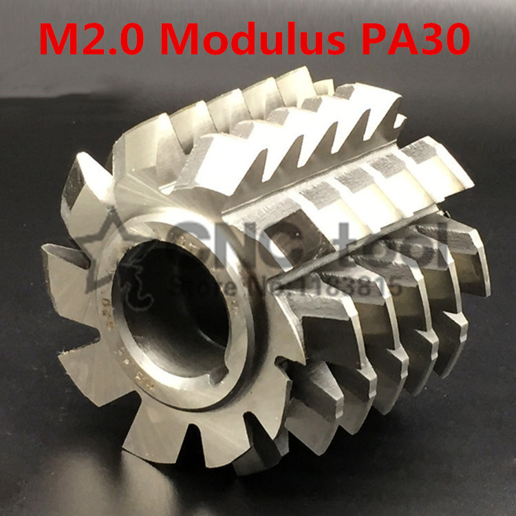 M2 Modulus PA30 degrees HSS Involute Gear hob 60x60x27mm Gear cutting tools Free shipping