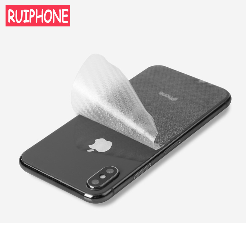 3Pcs 3D Carbon Fiber Rear Back Screen Protector for <font><b>iPhone</b></font> <font><b>X</b></font> <font><b>XS</b></font> MAX XR 5s SE Anti-fingerprint Protective <font><b>film</b></font> for <font><b>iPhone</b></font> 6s 7 8 image