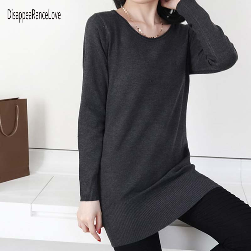 2019 New Cashmere Sweater O-neck Pullover Knitted Sweater Women Long Sleeve Casual Shirt L Sweater Thin Pullovers Sweaters