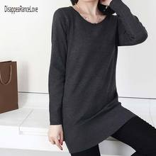 2019 New Cashmere Sweater O-neck pullover knitted sweater women long sleeve casual shirt L sweater Thin Pullovers Sweaters qingteng casual knitted long pullovers sweater women pockets irregular hem batwing loose prue cashmere long sweaters women dress