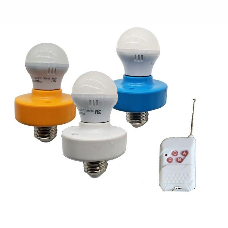 30 M colourfl convertitore portalampada E27 Vite Luce Telecomando Senza Fili può essere riscoperto Cap Interruttore Presa faro