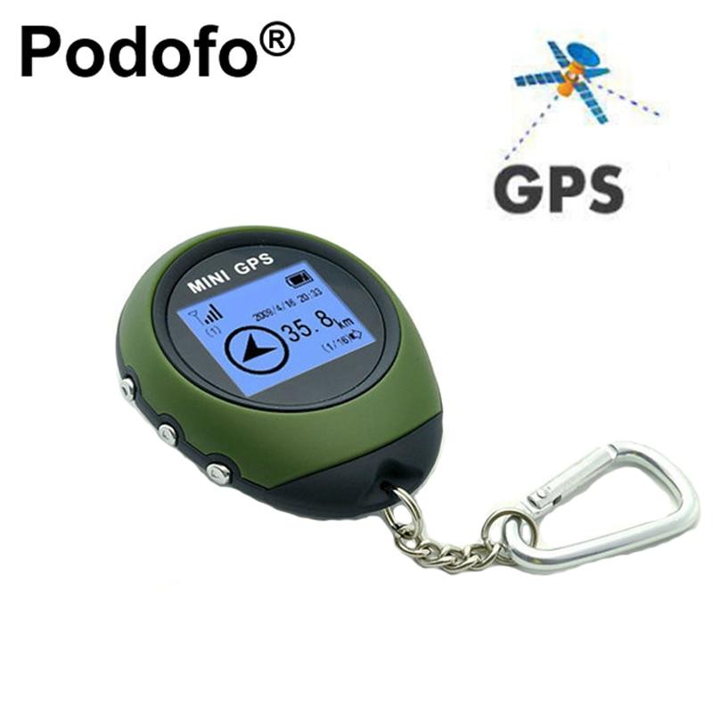 Podofo мини GPS навигационного приемника ручной Locator Finder USB Перезаряжаемые с Компасы Спорт на открытом воздухе путешествия ручной брелок