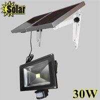 Горячая Распродажа 30 Вт Солнечный мощность светодиодный прожектор движения сенсор сад безопасности лампы Открытый водонепрони