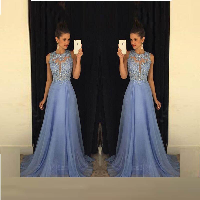 Royal Blue Prom Dress 2017 Best Selling O Neck Sleeveless ...