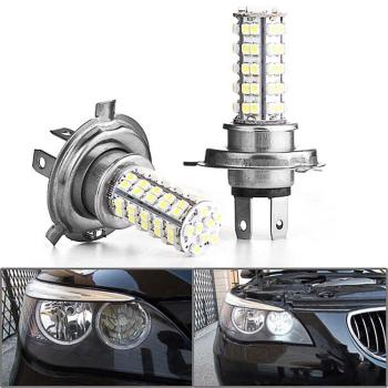 H4 120 LED Xenon White 3528 SMD Car Fog Headlight Auto Vehicle Head Bulb Light Lamp 12V High Quality External Lights image