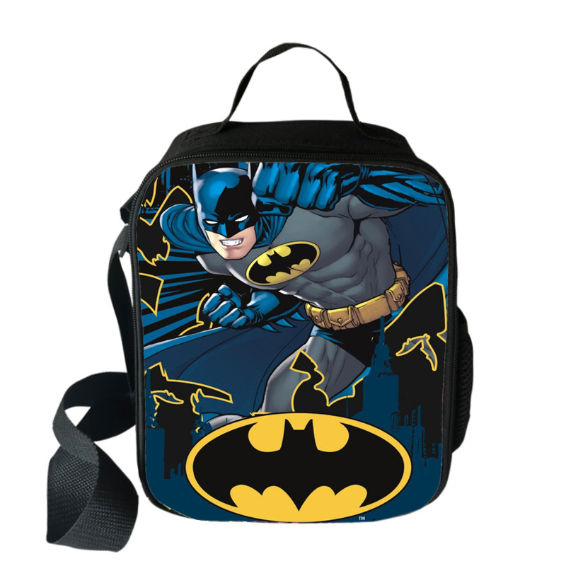 Super Hero Batman Cartoon Cool Insulated Lunch Bag For Kids Children Lunch Bag Thermal For Food To School Girls Boys