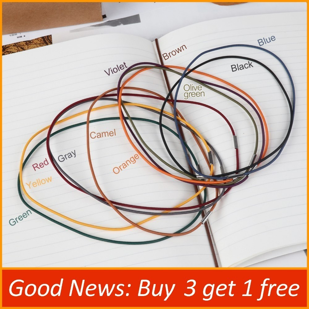 Spare Rubber Band Leather Notebook Accessory Repair Elastic String Bungee Cord, Olive Green, Blue, Black, Camel, Brown, Violet