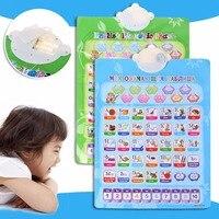 Электронный Ru En Phonetic диаграмма изучение алфавита ребенка обучающий инструмент игрушка