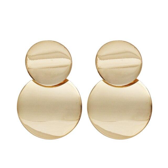 Fashion Statement Earrings 2019 Big Geometric earrings For Women Hanging Dangle Earrings Drop Earring modern Jewelry