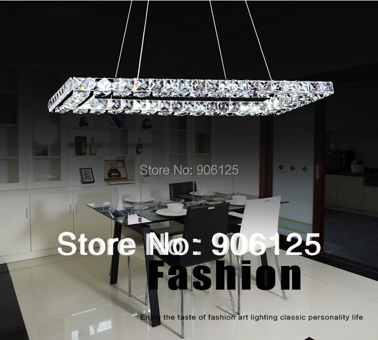 Phube Lighting LED Ring Chandelier Light Modern Crystal