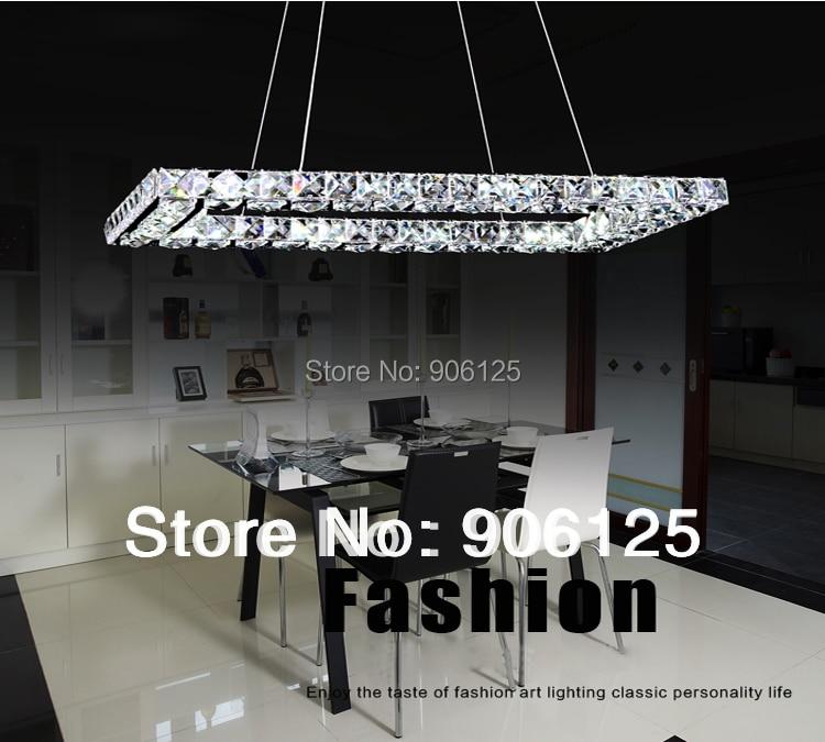 phube lighting led ring chandelier light modern crystal chandelier light 3 sides mounted k9 crystal - Modern Crystal Chandeliers
