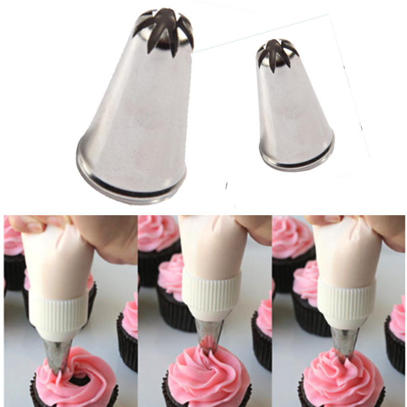 Us 0 46 10 Off Rose Flower Cup Ice Cream Piping Tip Nozzle Cake Decorating Pastry Tools In Baking Pastry Tools From Home Garden On Aliexpress