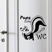 цены на Funny Pups Zone Toilet Decorative Wall Stickers For Bathroom Decorations Diy Vinyl Home Decals Mural Art Waterproof Posters  в интернет-магазинах