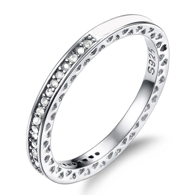 Verlobungsringe Utimtree Exquisite Frauen Ringe Silber 925 Schmuck Einfache Zirkonia Hochzeit Engagement Ring Bands Anillos Bijoux Bague Femme Neueste Technik