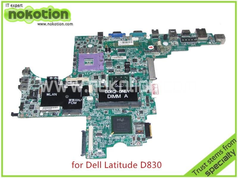 DA0JM7MB8E0 REV E PWB DY483 For dell Latitude D830 laptop motherboard CN-0MY199 MY199 965gm ddr2