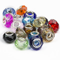 Мода микс-бесплатная цвета посеребренные классический стеклянные бусины европейские прелести подходят пандора браслеты и браслеты B00008