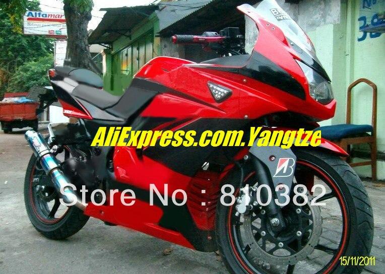 Custom for KAWASAKI Ninja ZX250R 08-12 ZX-250R 2008-2012 ZX 250R EX250 08 09 10 11 12 2008 2012 top red black