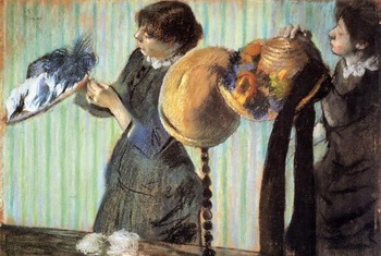 High quality Oil painting Canvas Reproductions The Little Milliners (1882)  By Edgar Degas hand painted