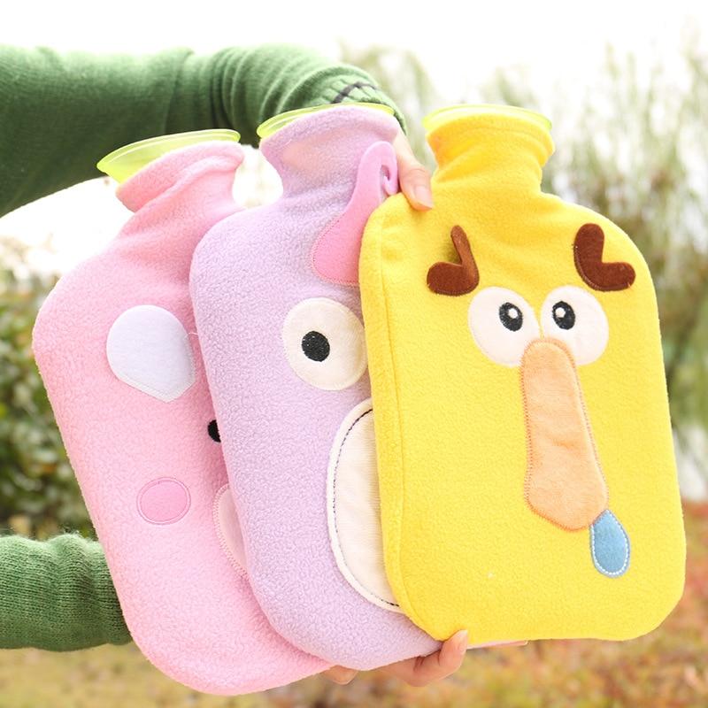 Winter Cold Creative Cute Cartoon Rabbit Hot Water Bottle Bag Rubber Washable Household Warm Items Handbag