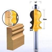 shank כלים 5Pc 8mm Shank מארז & נתבו דפוס Base Bit Set Cnc קו הסכין הניגר קאטר שֶׁגֶם קאטר כלים לעיבוד עץ (4)